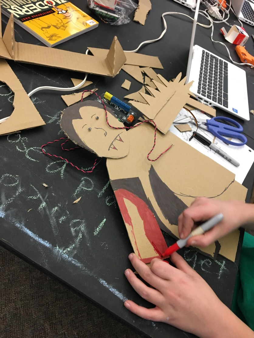 2. Creating with cardboard