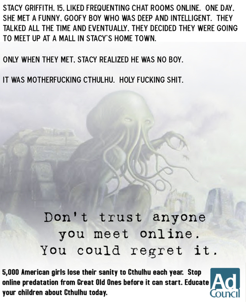 Cthulhu lurks everywhere!