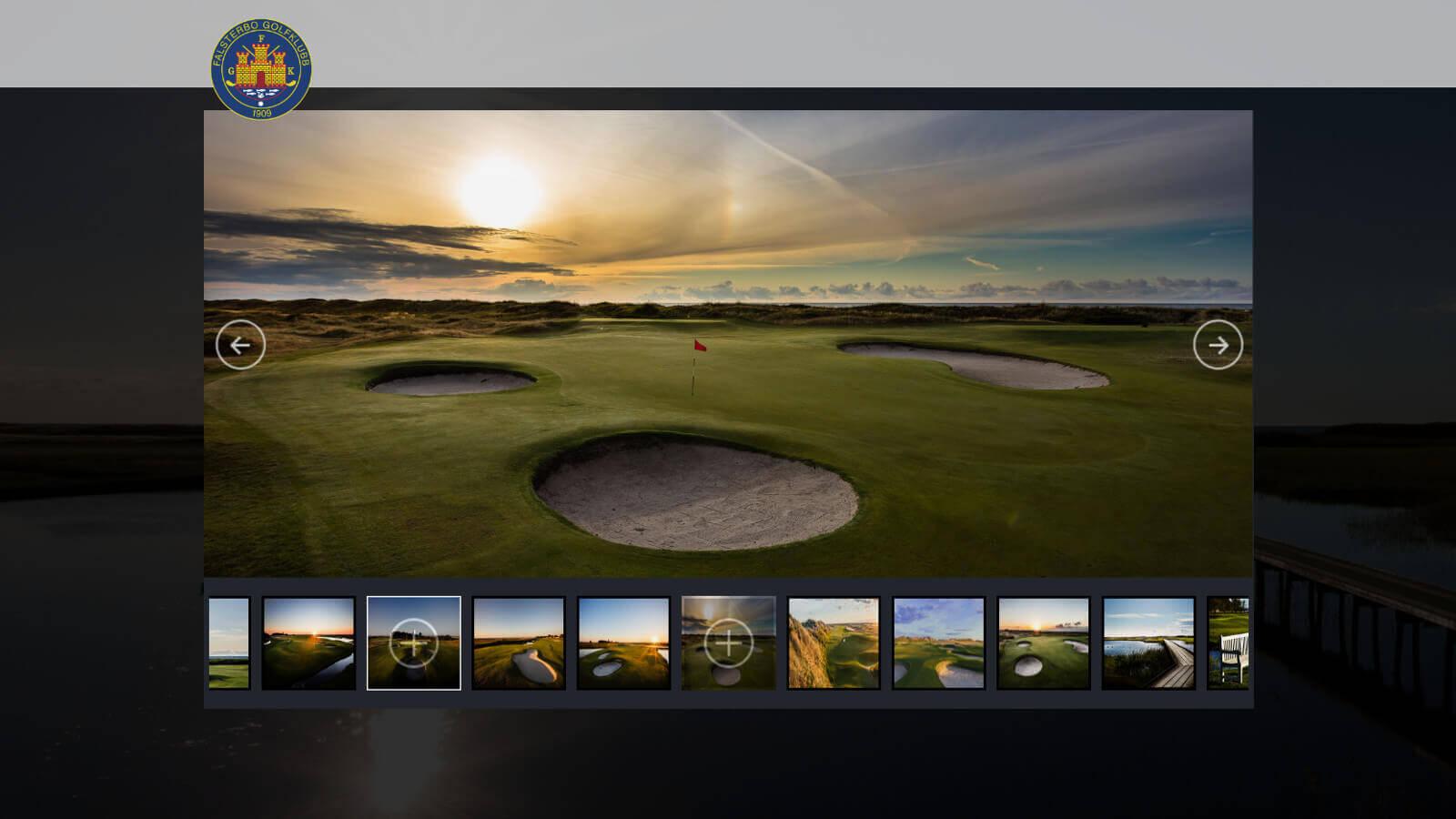Skjermdump fra hjemmesiden til Falsterbo Golfklubb