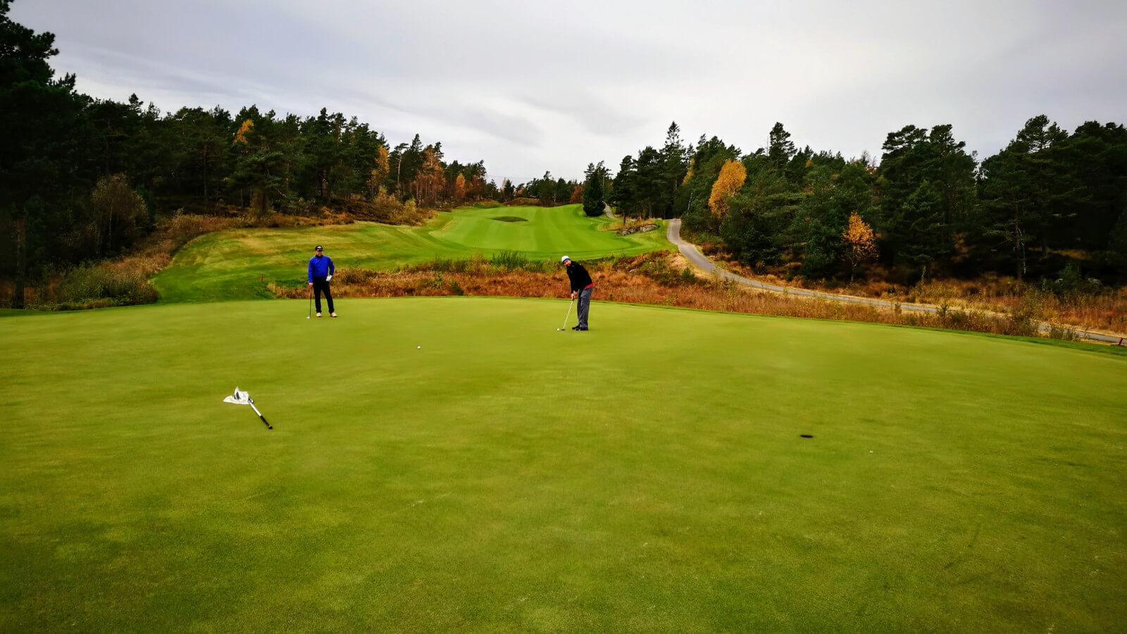 Greenen på hull 8, Kragerø Golfklubb