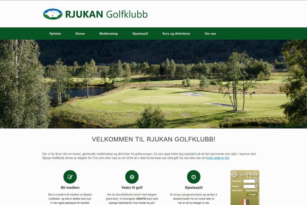 Hjemmesiden til Rjukan Golkfklubb