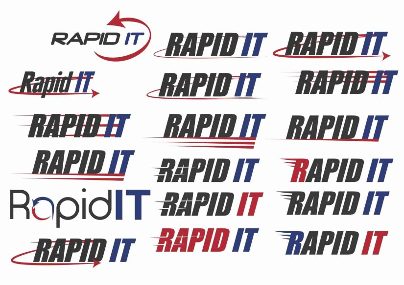 rapid it logo design 3