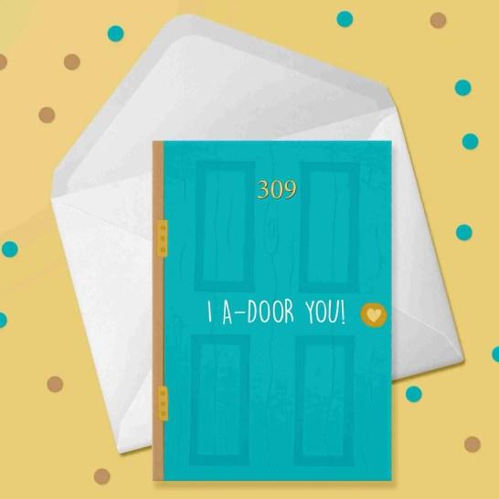 i adoor you card 309