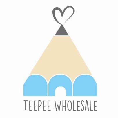 teepee wholesale blue logo