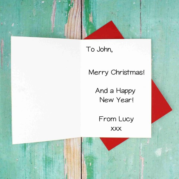 Christmas red envelope message example