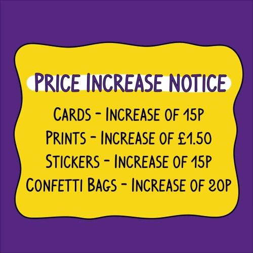 PRICE INCREASE NOTICE