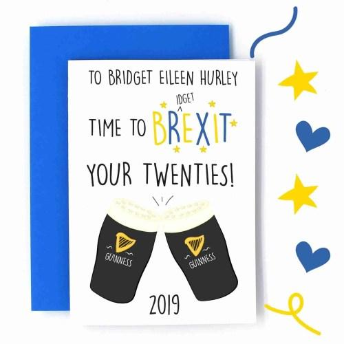 brexit your twenties card