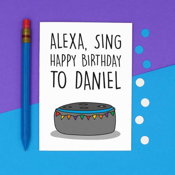 Funny Alexa Pun, TePe Creations, Confetti Card, Customisable Card, Personalised Card, Funny Birthday Card, Card for Tech Lover, Alexa Command Card, Blank Card, Cute Birthday Card, Technology Lover, IT Lover Card, Card for Nerd