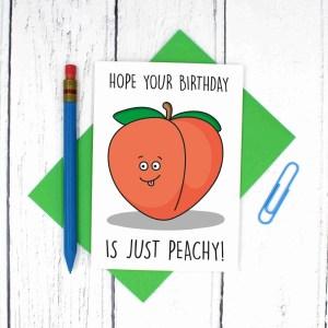 Funny Pun Card, TeePee Creations, Confetti Card, Funny Birthday Card, Cheeky Card, Bum Emoji Card, Peach Emoji Card, Fruit Pun Card, Cute Birthday Card, Have a Great Day, Have Fun Card, Happy Birthday Card, Peach Birthday Card