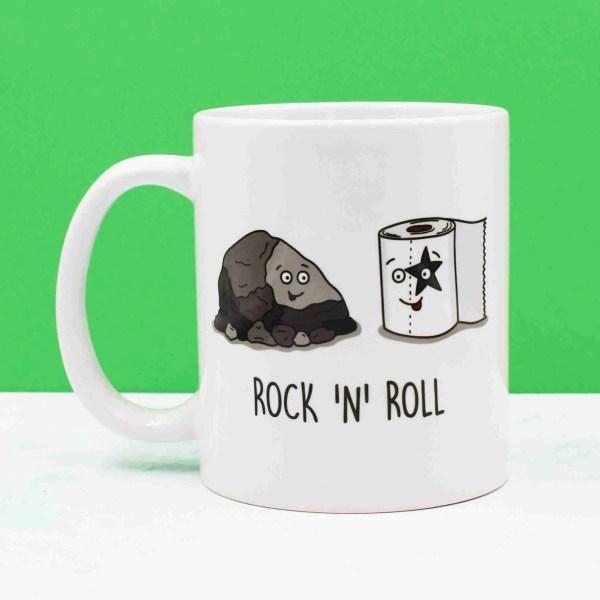 Rock Pun Mug, Funny Pun Mug, Tee Pee Creations, Gift for Friend, Rocking Illustration, New Home Gift, Rock and Roll Pun, Christmas Present, Music Lover Gift, Gift for Singer, Anniversary Gift, Gift for Punk, Funny Birthday Gift