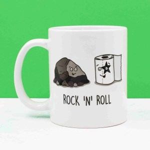 Rock Pun Mug, Funny Pun Mug, Tee Pee Creations, Gift for Friend, Rocking Illustration, New Home Gift, Rock and Roll Pun, Christmas Present, Music Lover Gift, Gift for Singer, Anniversary Gift, Gift for Punk, Funny Birthday Gift