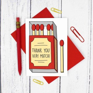 TeePee Creations, Confetti Card, Thank You Card, Funny Pun Card, Match Pun Card, Thanks Pun Card, Thank You Very Much, Card for Teacher, End of School Card, Number One Teacher, Card for Tutor, End of Term Card, Card for Lecturer
