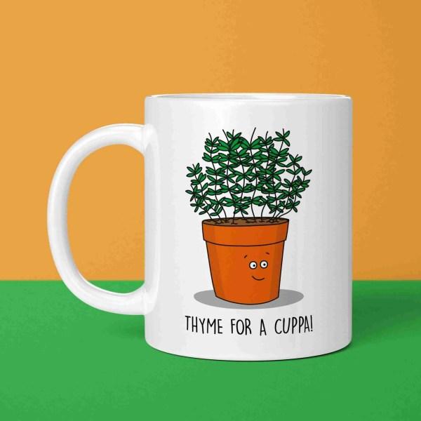Funny Pun Mug, Thyme Pun Mug, Tea Lover Gift, Coffee Lover Gift, Yorkshire Slang, Northern Present, Cuppa Pun Mug, Christmas Present, Birthday Present, Housewarming Gift, TeePee Creations, Herb Pun Mug, Gift for Chef