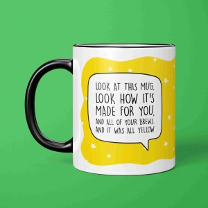 Coldplay Pun Mug, All Yellow Lyrics, All Yellow Pun Mug, Graduation Gift, Funny Birthday Gift, Anniversary Gift, Fun Wedding Gift, Chris Martin Mug, Music Lover Present, TePe Creations, Star Pattern Mug, Present for Friend, Brew Pun Mug