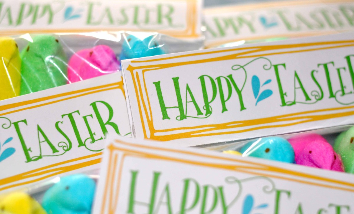 Free Easter Bag Toppers-Treat Toppers