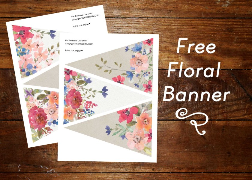 Free Floral Banner www.TeepeeGirl.com