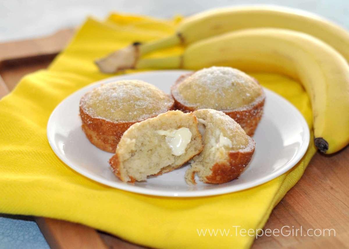 Perfect Banana Muffins from www.TeepeeGirl.com