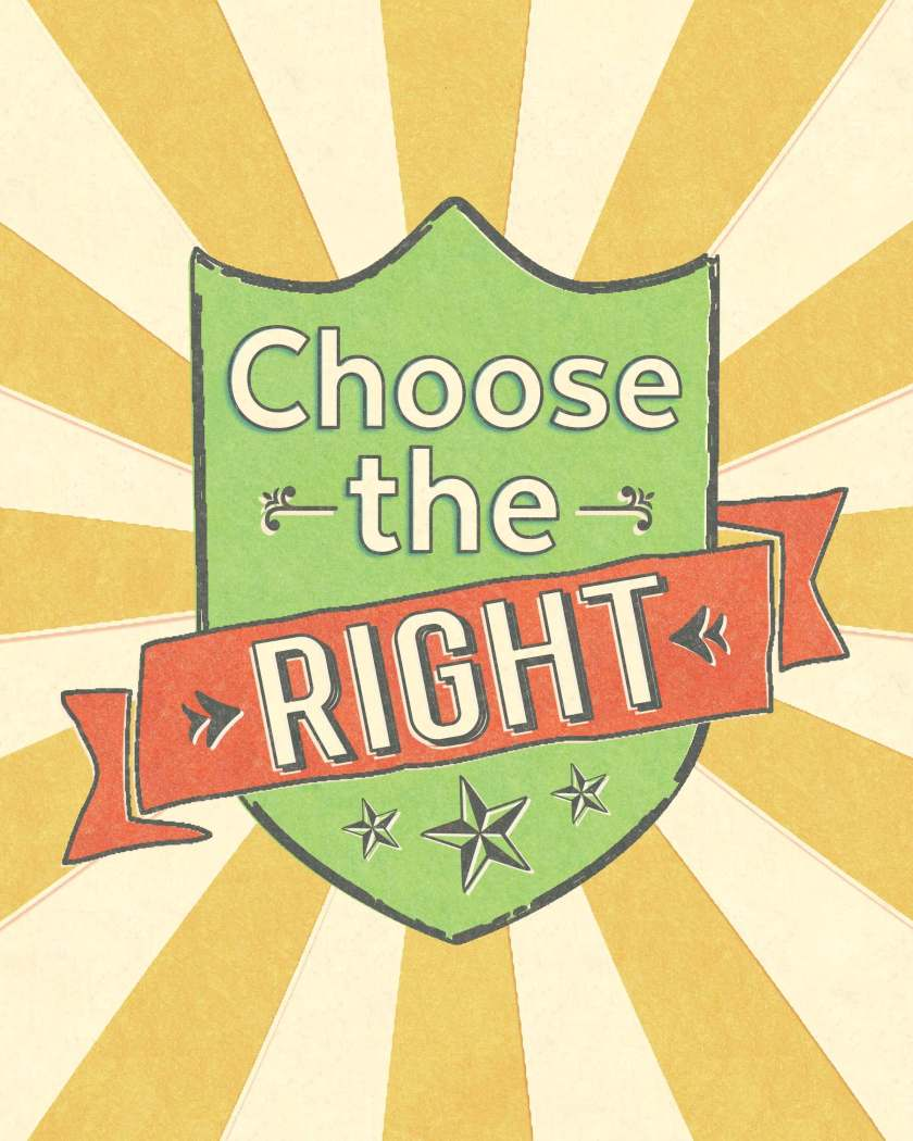 """These 2017 """"Choose the Right,"""" primary posters, binder covers, & classroom door printables are the perfect blend of color & style for your primary organization and decor! www.TeepeeGirl.com"""