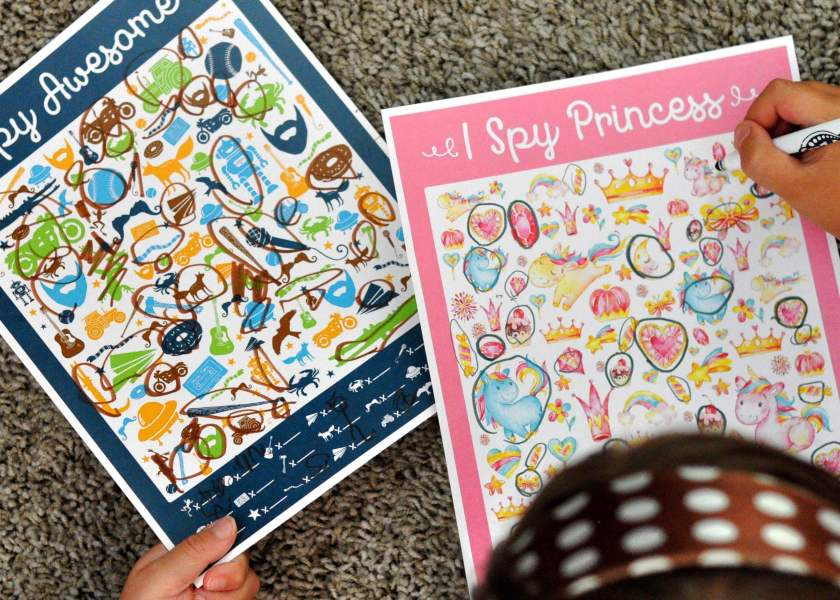These free I Spy Princess & I Spy Awesome are perfect for birthday parties, easy & inexpensive gifts, waiting at the doctor's office, or a quiet afternoon at home! They are colorful, fun, & engaging. www.TeepeeGirl.com