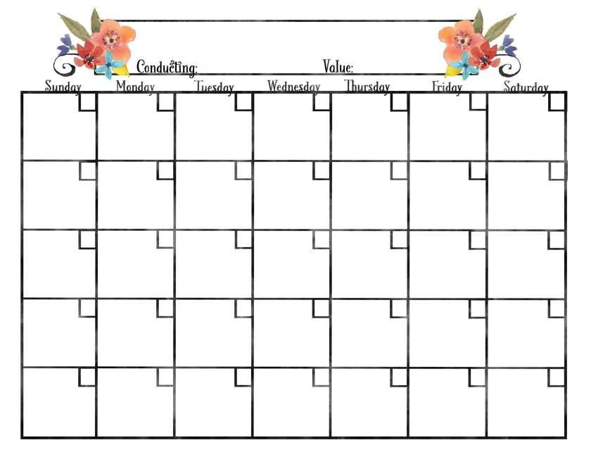 These free blank calendars are the perfect (and pretty!) way to plan activities and stay organized in 2017. Even better, these calendars match the free Young Women binder covers and theme posters found at www.TeepeeGirl.com.