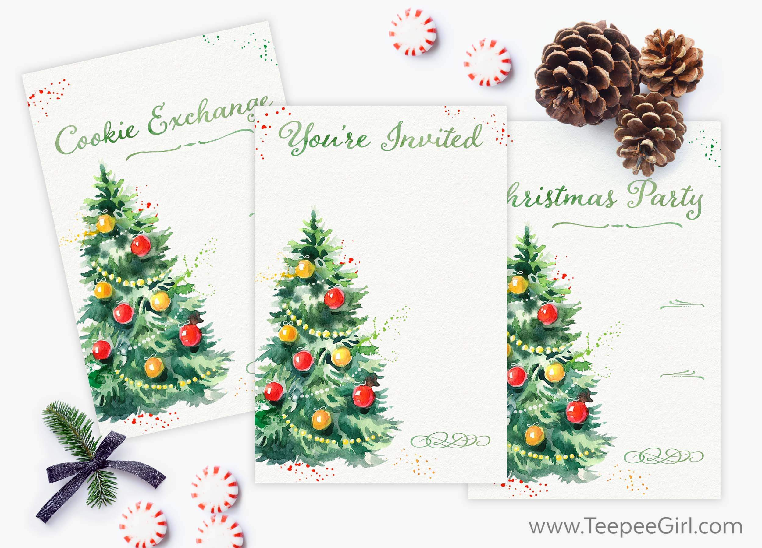 Free Holiday Invitations