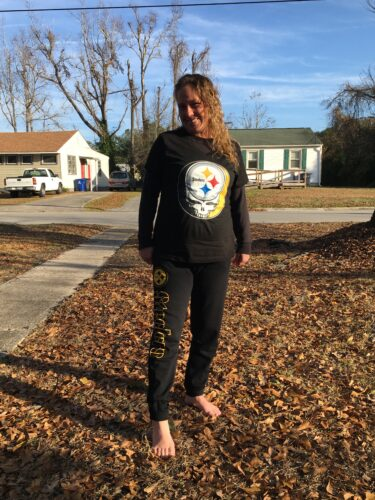 NFL Team Pittsburgh Steelers x Grateful Dead Logo Band Shirts photo review