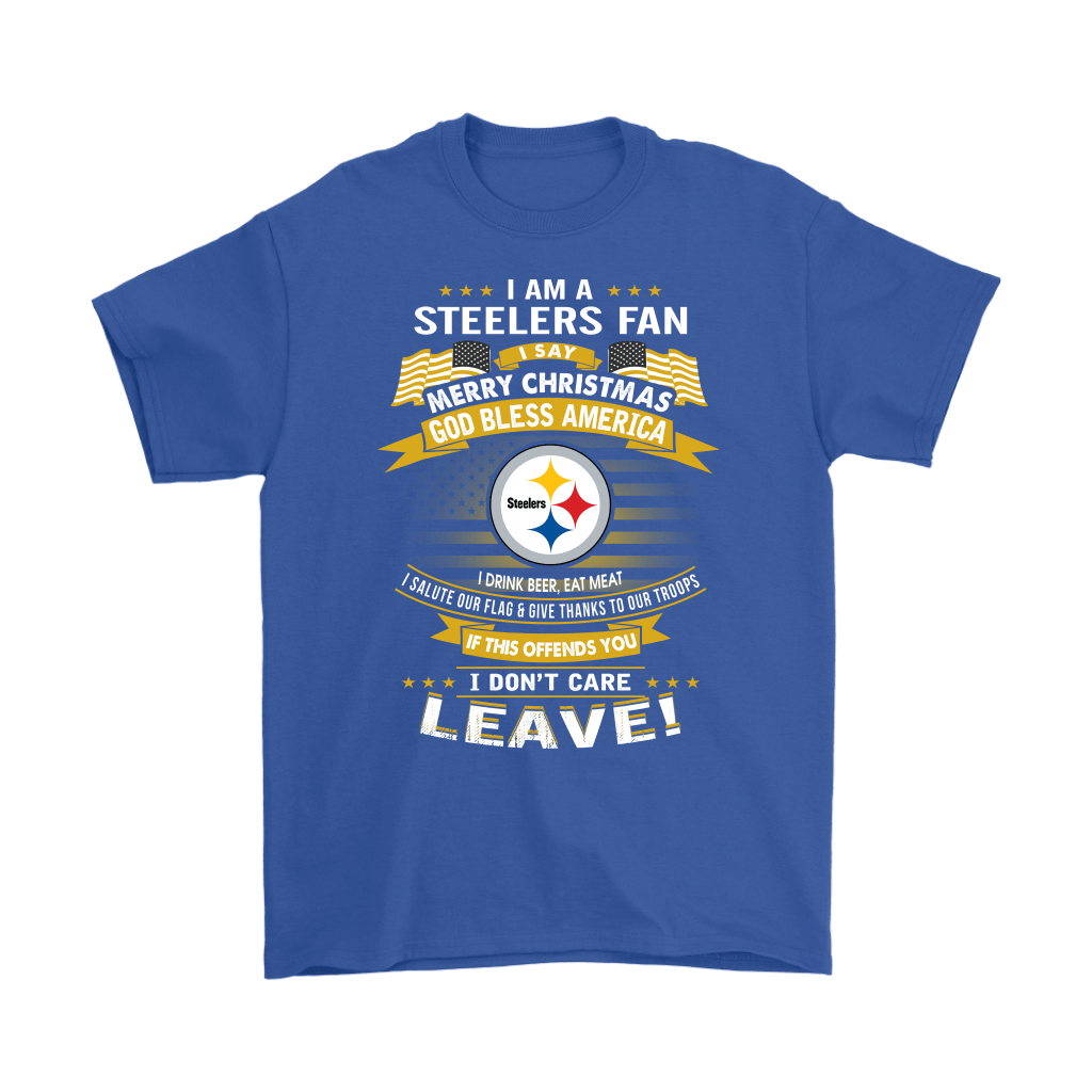 4694939892c A Pittsburgh Steelers Fan Merry Christmas God Bless America Shirts ...