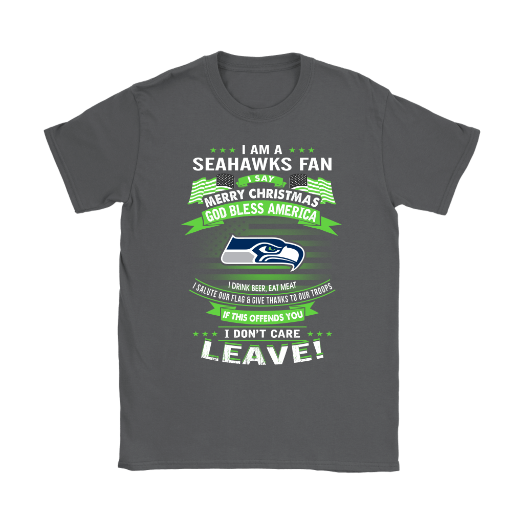 A Seattle Seahawks Fan Merry Christmas God Bless America Shirts 7