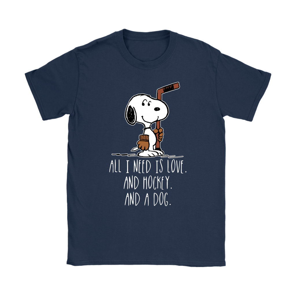 All I Need Is Love And Hockey And A Dog Snoopy Shirts 10