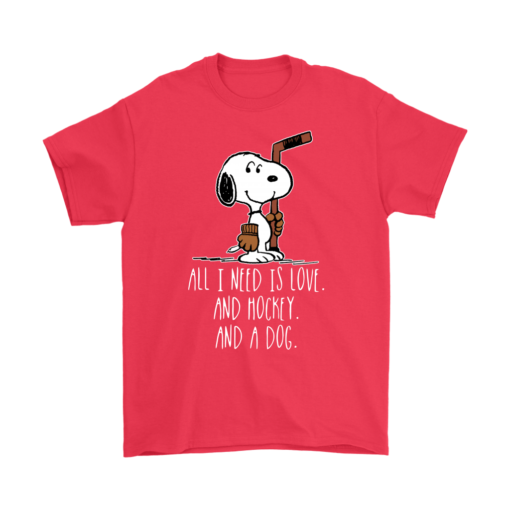 All I Need Is Love And Hockey And A Dog Snoopy Shirts 5
