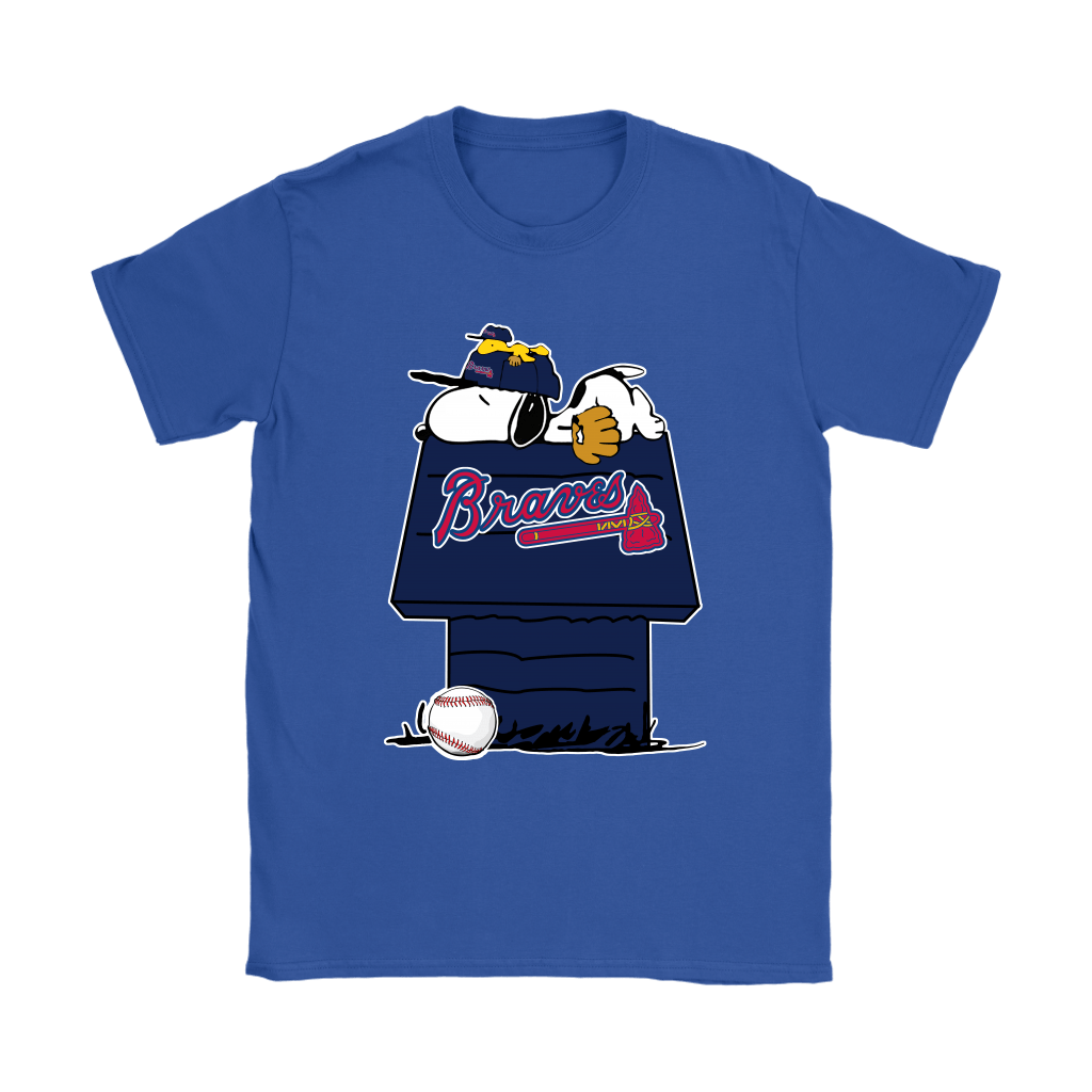 Atlanta Braves Snoopy And Woodstock Resting Together MLB Shirts 12