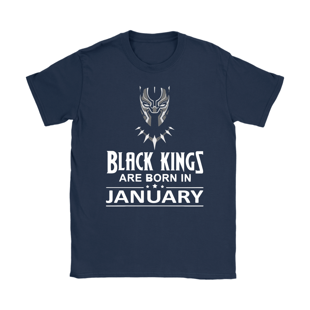Black Kings Are Born In January Black Panther Shirts 8