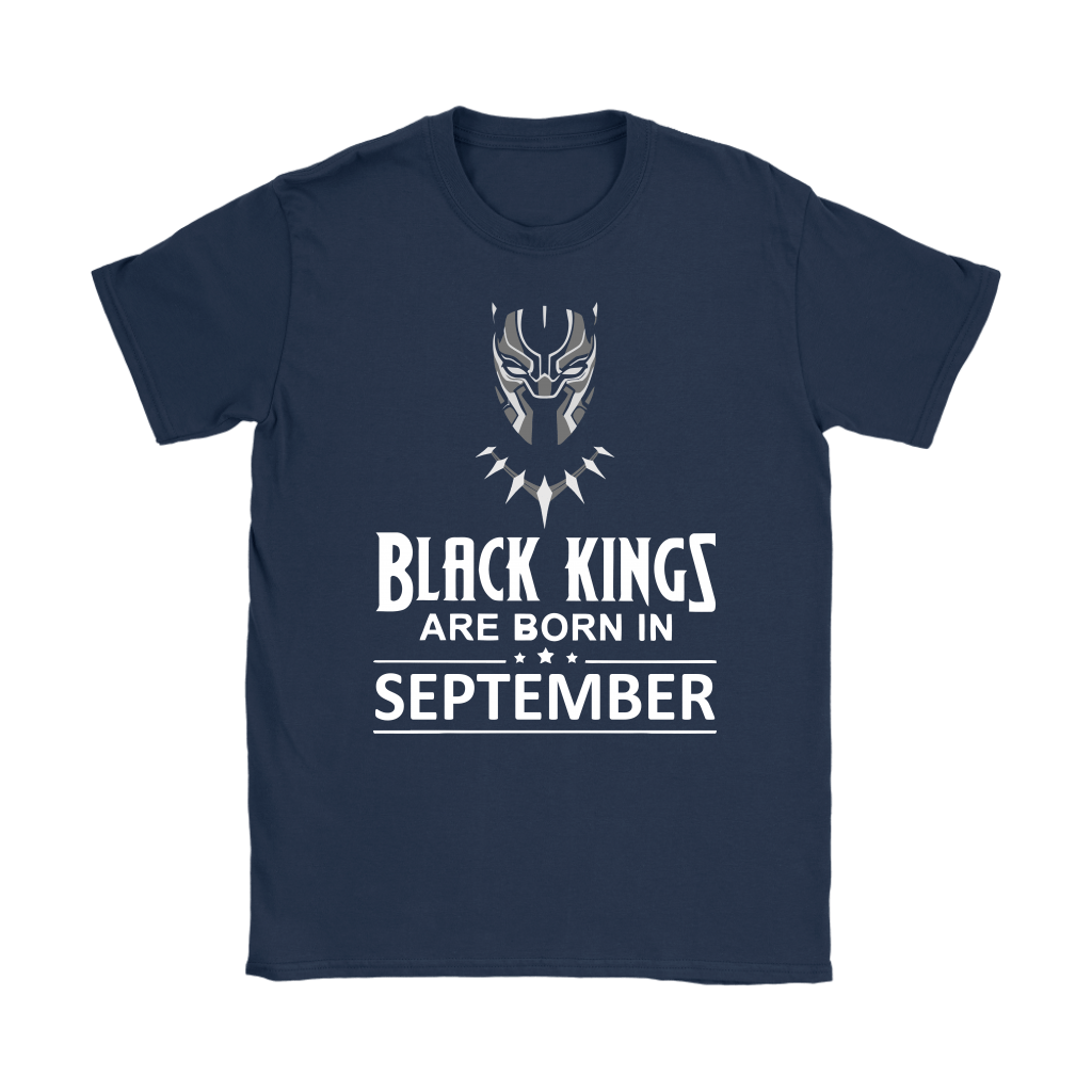 Black Kings Are Born In September Black Panther Shirts 8