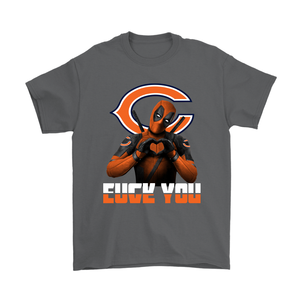 Chicago Bears x Deadpool Fuck You And Love You NFL Shirts 2