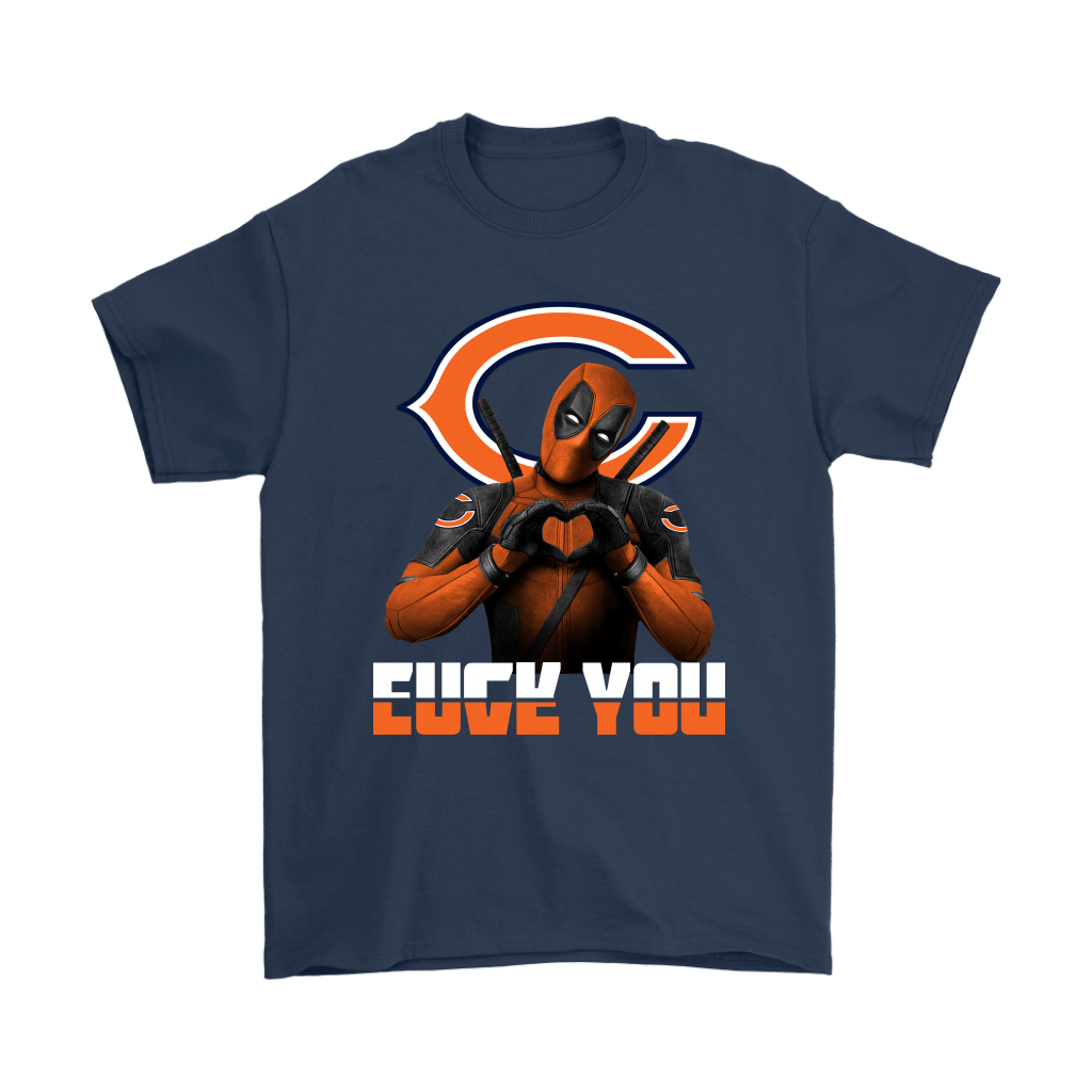 Chicago Bears x Deadpool Fuck You And Love You NFL Shirts 3