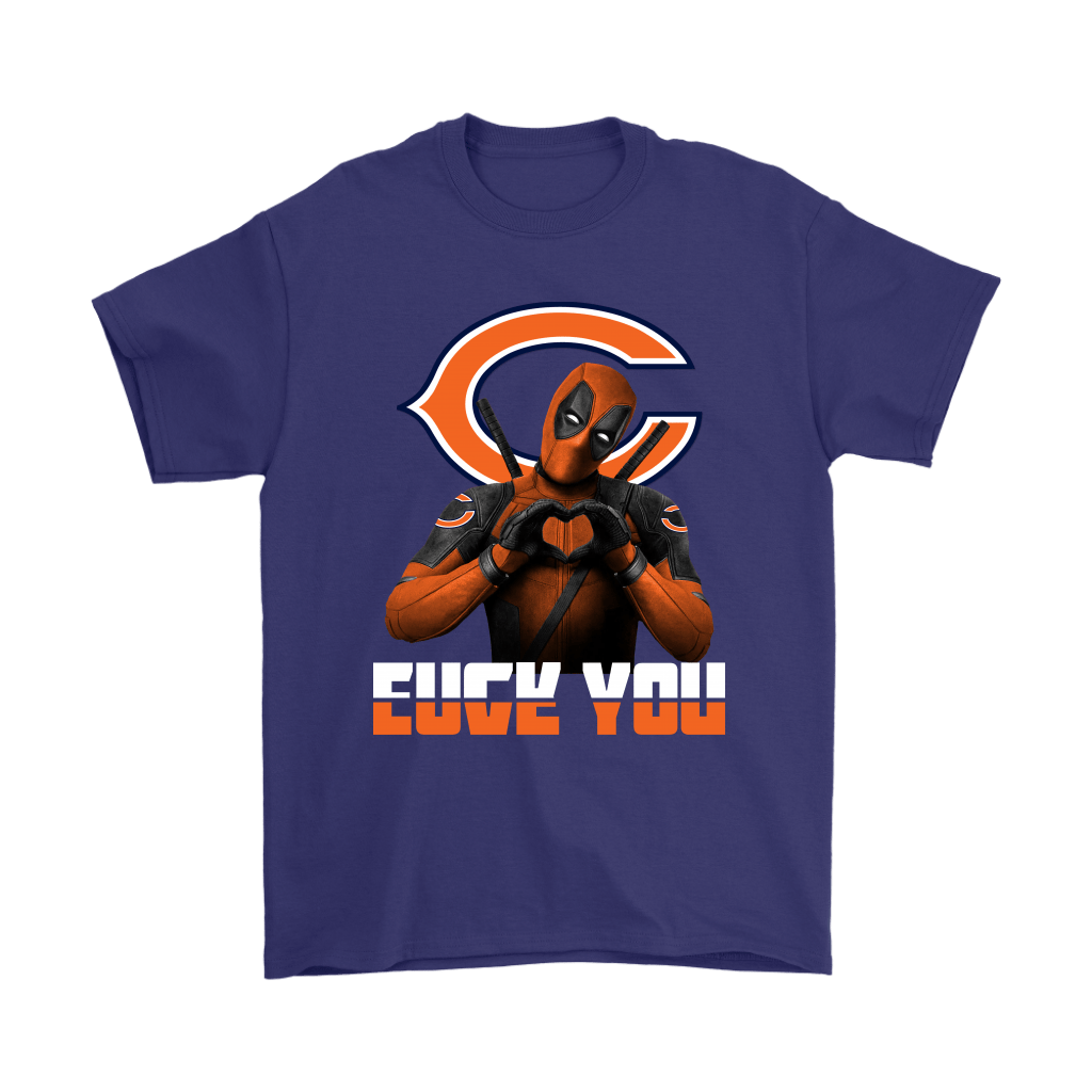 Chicago Bears x Deadpool Fuck You And Love You NFL Shirts 4