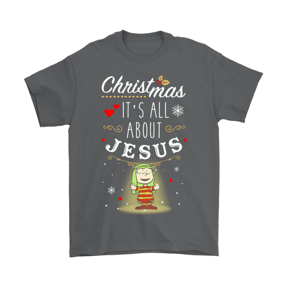 Christmas It's All About Jesus Linus Van Pelt Snoopy Shirts 2