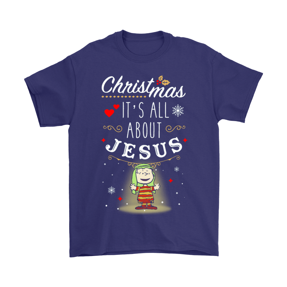 Christmas It's All About Jesus Linus Van Pelt Snoopy Shirts 4