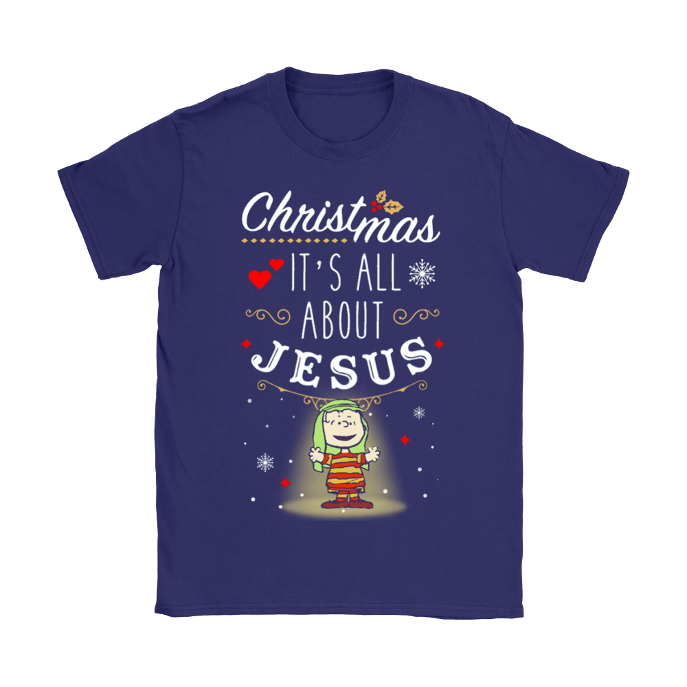 Christmas It's All About Jesus Linus Van Pelt Snoopy Shirts 9