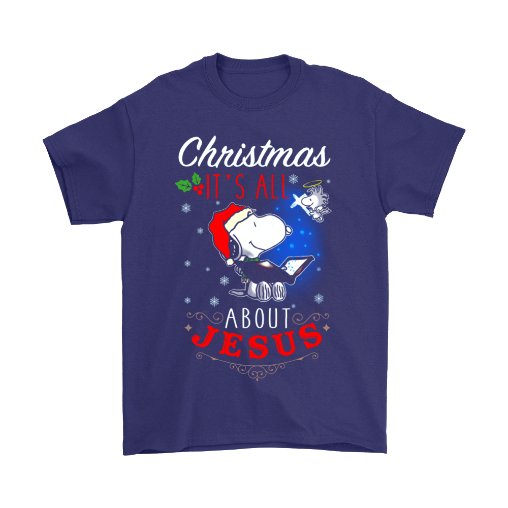 Christmas It's All About Jesus Woodstock And Snoopy Shirts 3