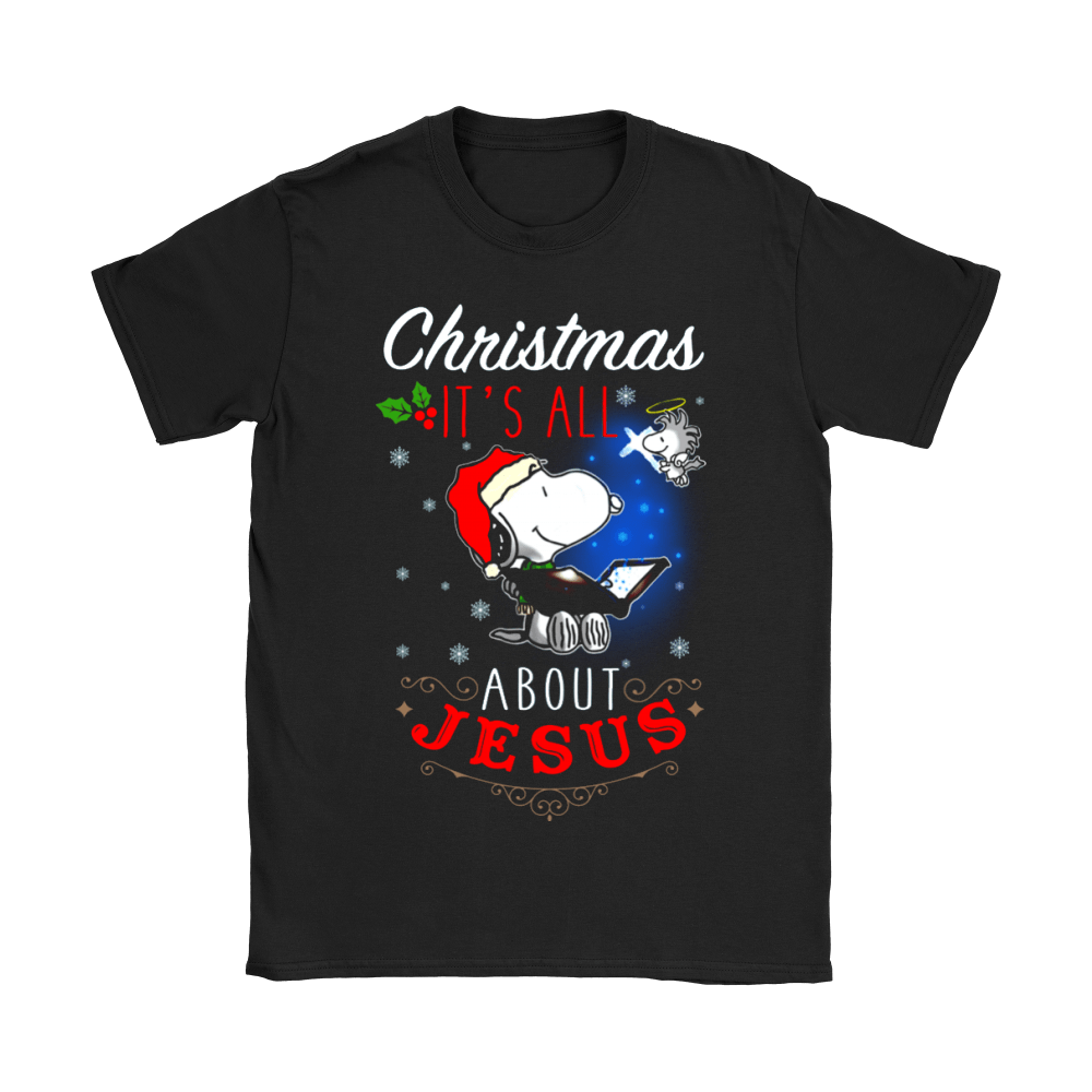 Christmas It's All About Jesus Woodstock And Snoopy Shirts 4