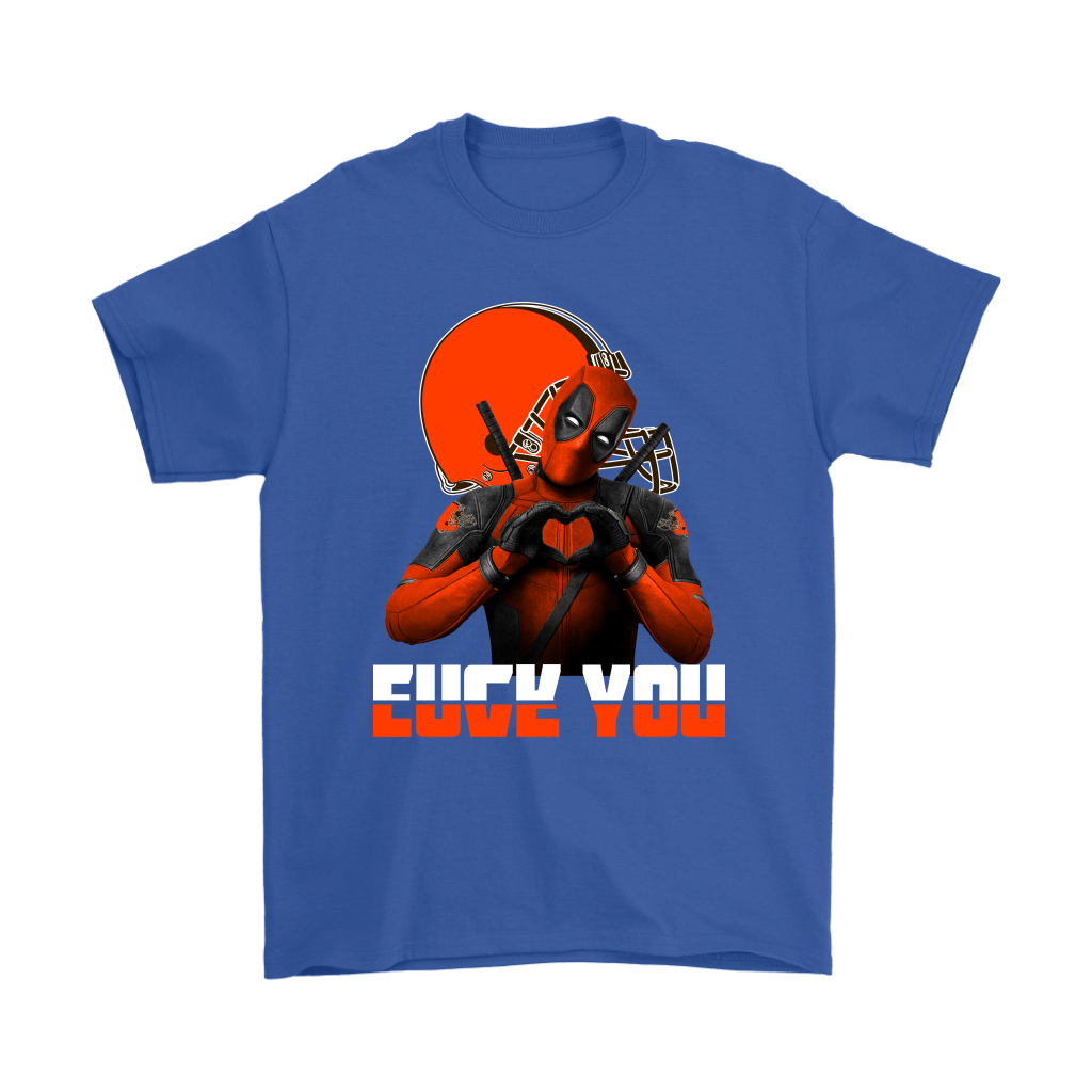 Cleveland Browns x Deadpool Fuck You And Love You NFL Shirts 5