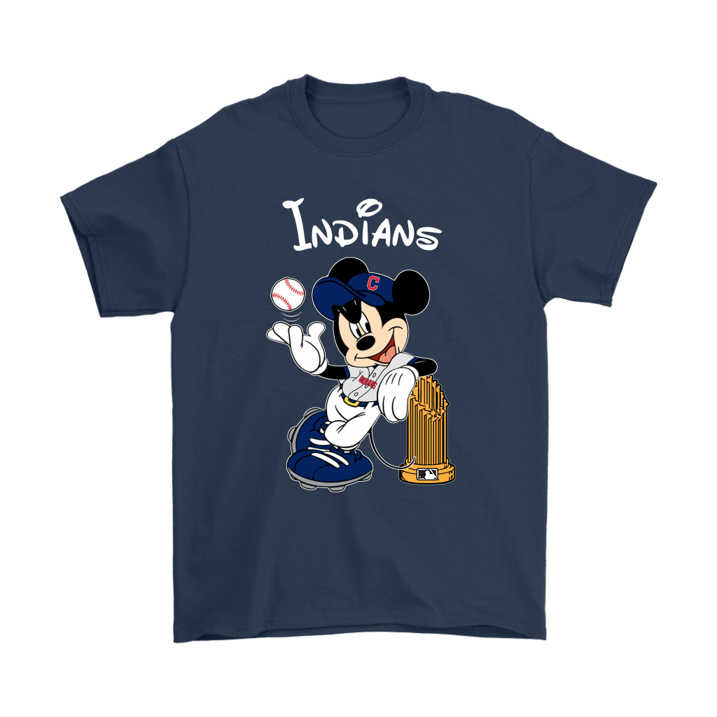 Cleveland Indians Mickey Taking The Trophy MLB 2018 Shirts 3
