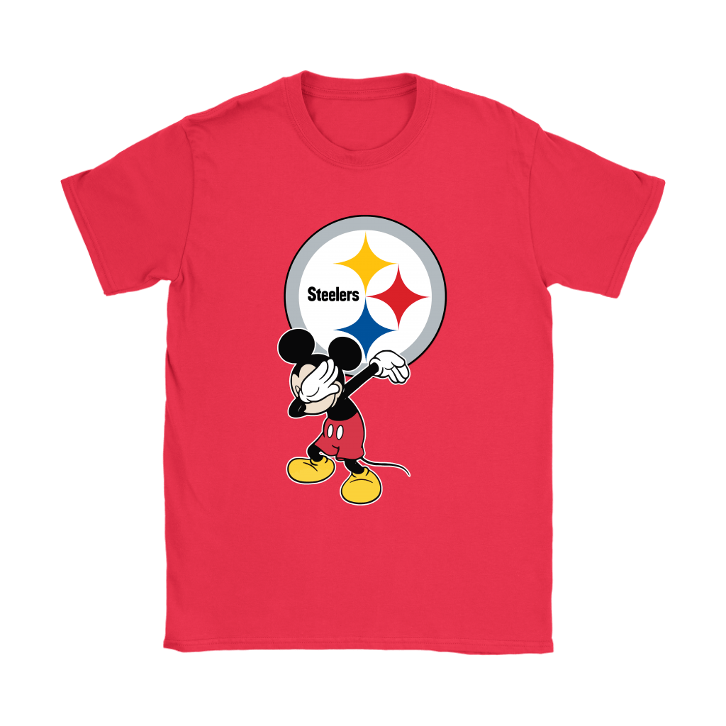 info for a537c ce1d7 Dabbing Mickey Flippin' Love Pittsburgh Steelers Football Shirts