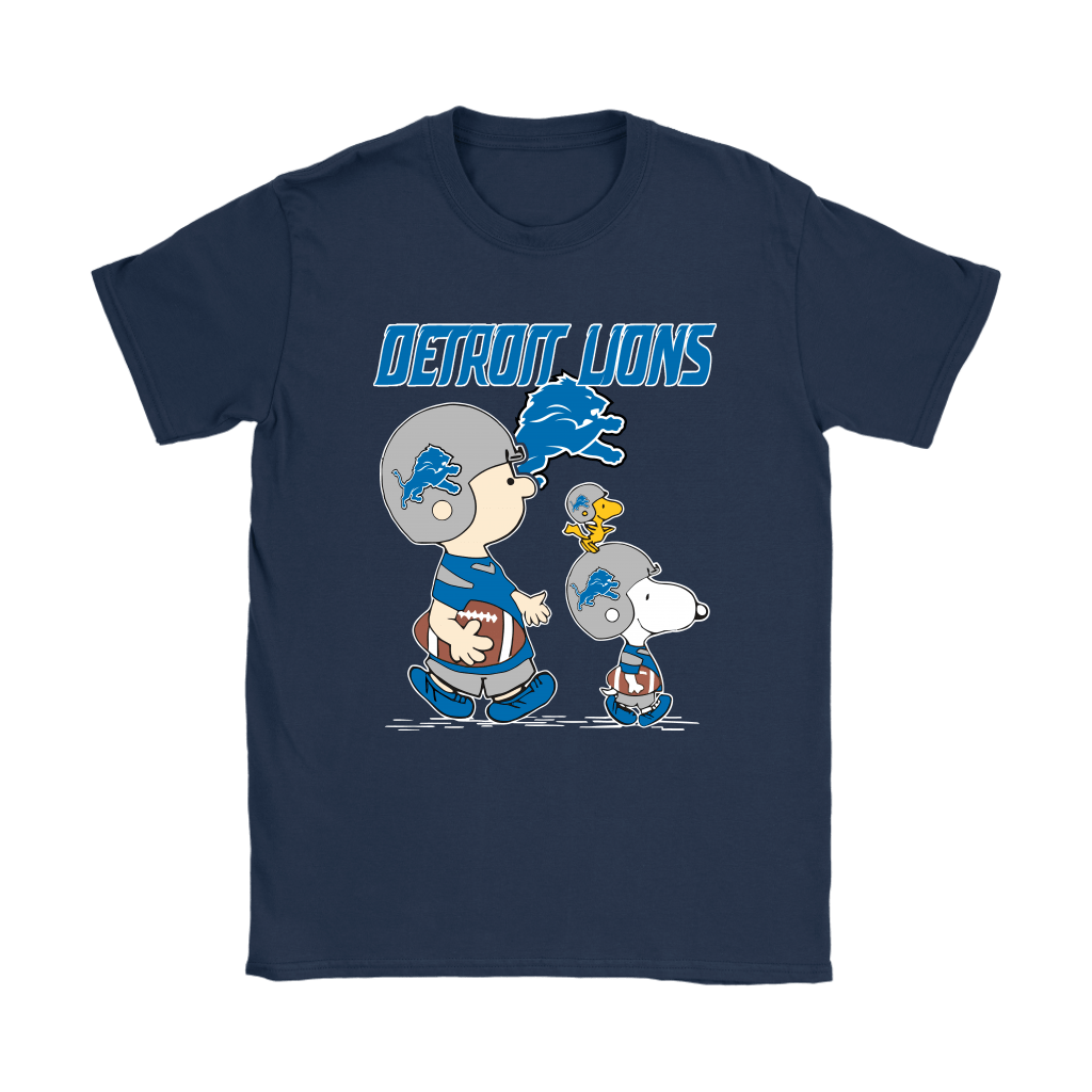 Detroit Lions Let's Play Football Together Snoopy NFL Shirts 9