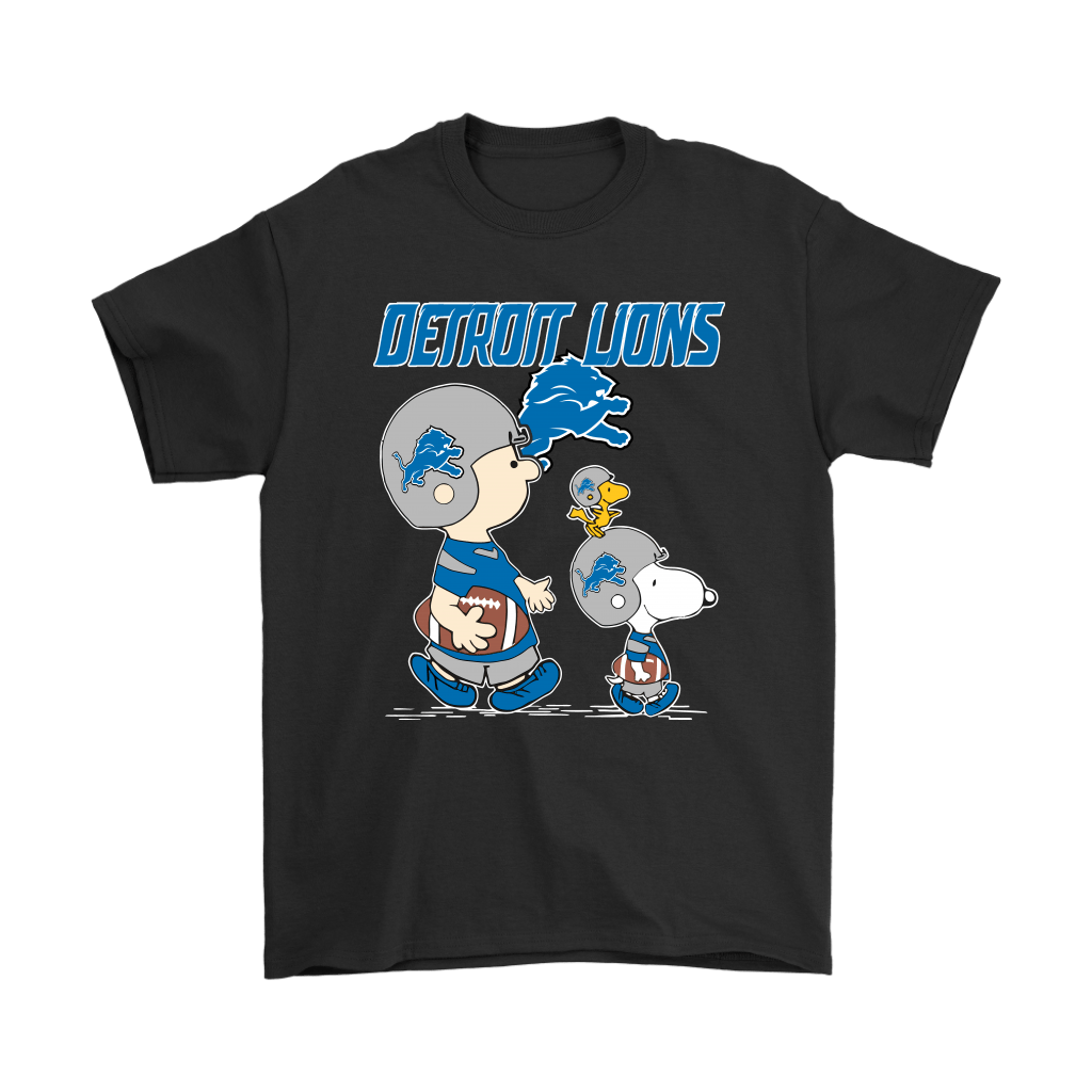 Detroit Lions Let's Play Football Together Snoopy NFL Shirts 1