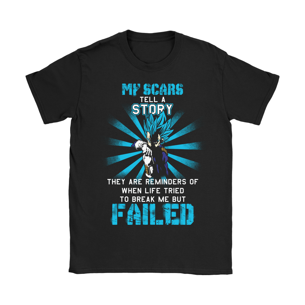 Dragon Ball (Vegeta) - My Scars Tell A Story Dragon Ball Shirts 4