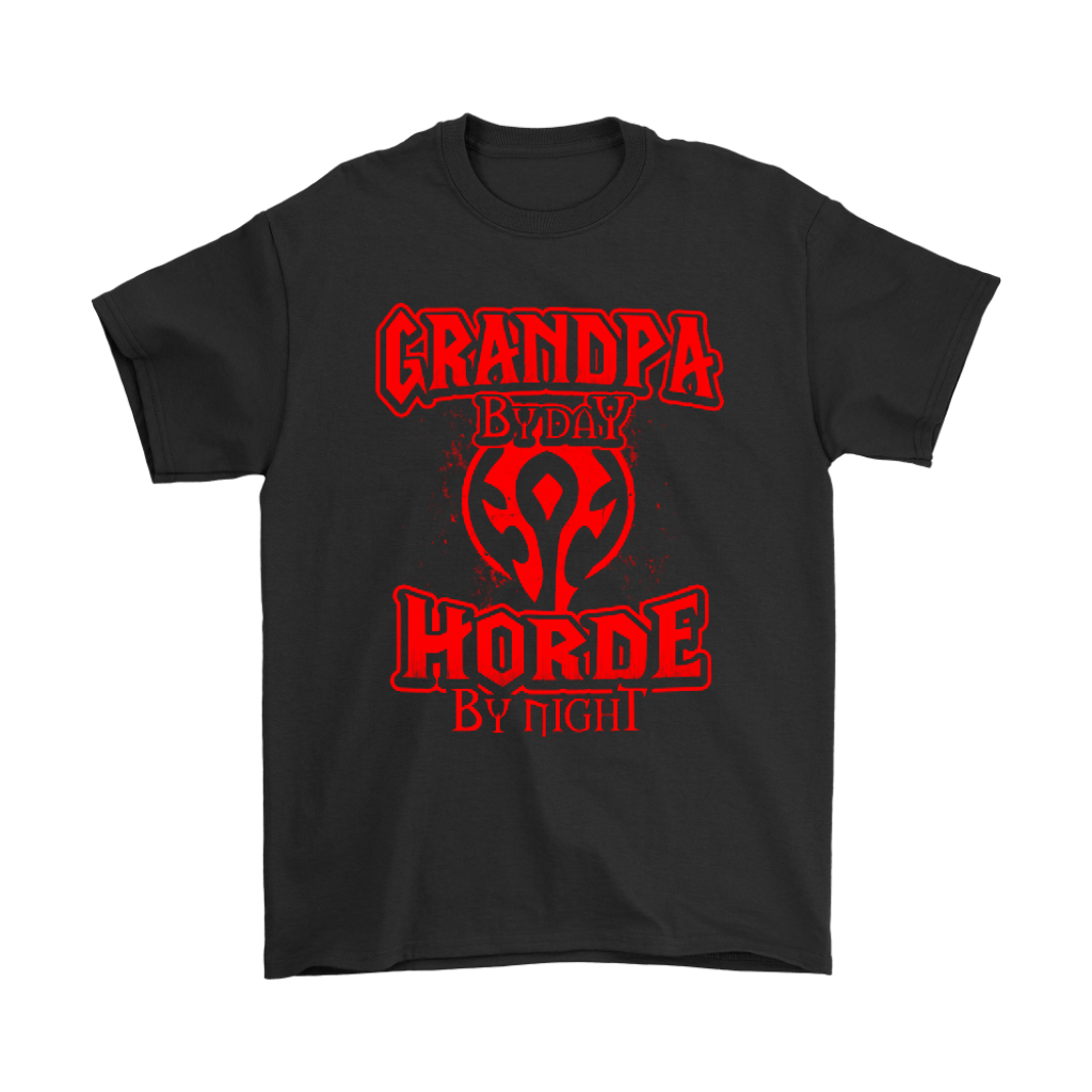 Grandpa By Day Horde By Night World Of Warcraft Shirts 1