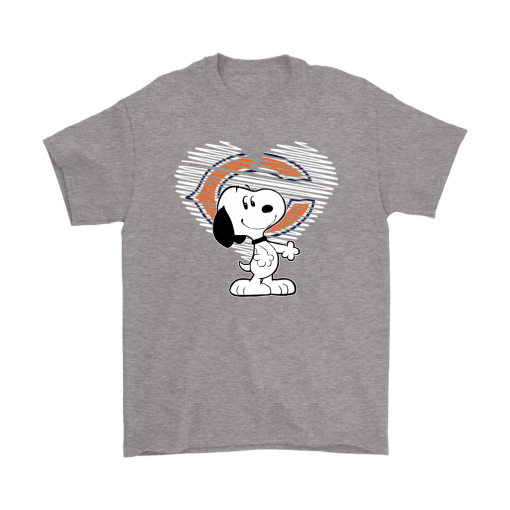 I Love Chicago Bears Snoopy In My Heart NFL Shirts 6