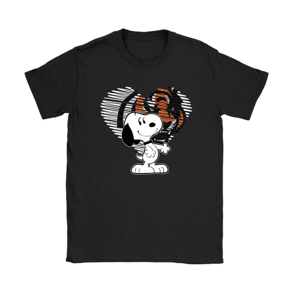 I Love Cincinnati Bengals Snoopy In My Heart NFL Shirts 7